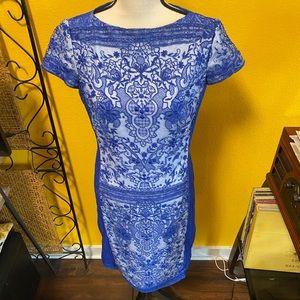 BOGO Blue & White Lace Dress